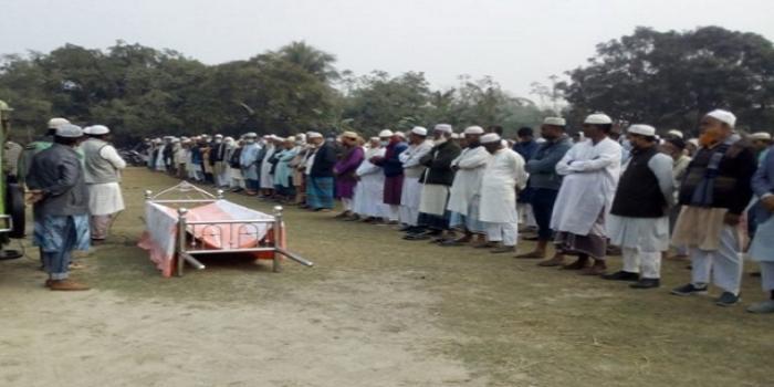 ধামইরহাটে হাজারো মানুষের ভালোবাসা নিয়ে চিরনিদ্রায় বুলি