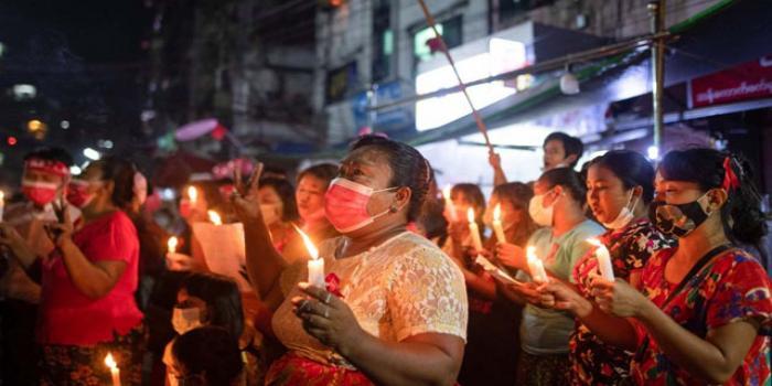 মিয়ানমারে বিক্ষোভ: বন্ধ করা হলো ইন্টারনেট
