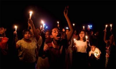 মিয়ানমারে বিক্ষোভ: পুলিশের গুলিতে এক রাতে নিহত ৮০