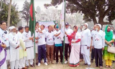 মধুখালীতে বঙ্গবন্ধু শেখ মুজিব ঢাকা ম্যারাথন অনুষ্ঠিত