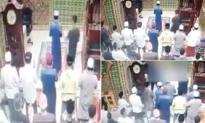 নামাজরত ইমামকে থাপ্পড়, নামাজ ভেঙে হামলাকারীকে মারধর মুসল্লিদের