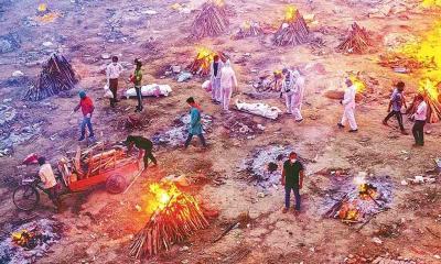 সব রেকর্ড ভেঙে ভারতে একদিনে ৪২০৫ জনের মৃত্যু