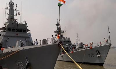 মোংলা বন্দরে শুভেচ্ছা সফরে এলো ভারতীয় নৌবাহিনীর দুই যুদ্ধজাহাজ