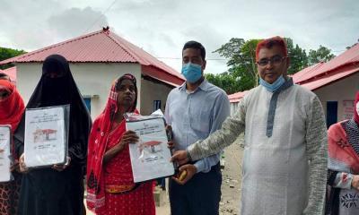 মাদারীপুরের রাজৈরে নতুন ঘর পেল ৪৭টি পরিবার